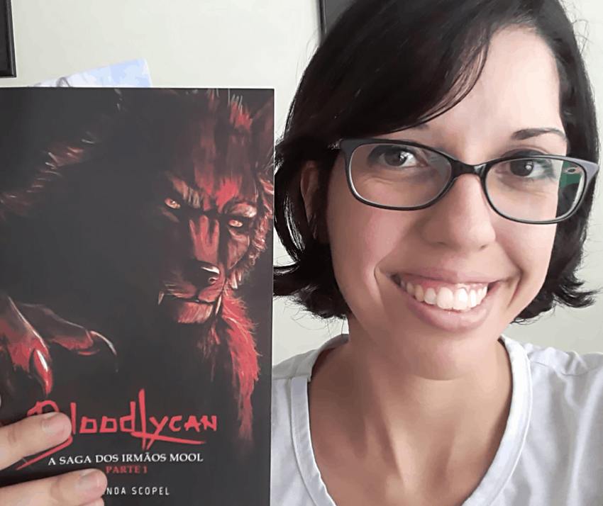 Amanda Scopel: a 2D Artist, Illustrator, Character Designer, and Writer of the Book BloodLycan - The Saga of Brothers Mool