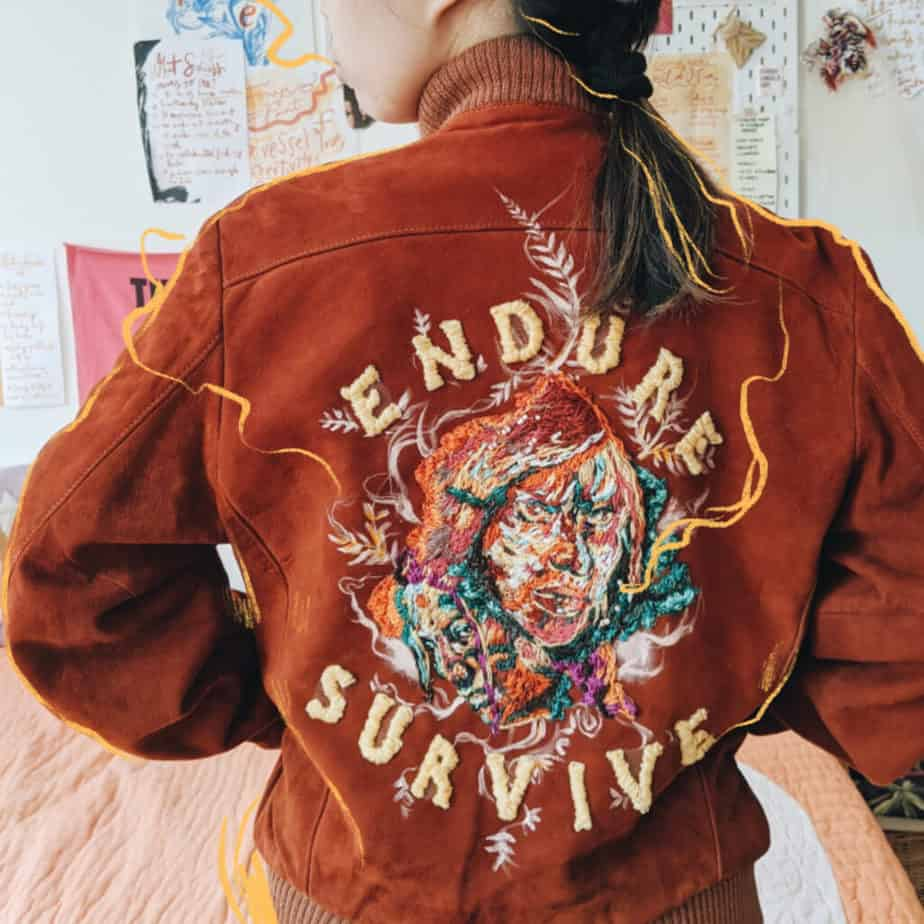 Hand embroidered Jacket - The Last of Us 2 -  featured by Naughty Dog - Sony